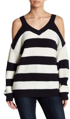 Vero Moda Sibbo Cold Shoulder Striped Sweater