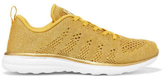 APL Athletic Propulsion Labs Techloom Pro Metallic Mesh Sneakers - Gold