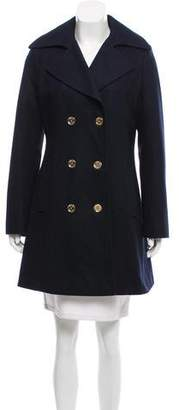 MICHAEL Michael Kors Wool Double-Breasted Peacoat