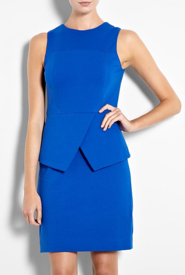 Tibi Cobalt Fitted Dress