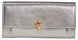 Alexander McQueen Metallic Leather Wallet on a Chain