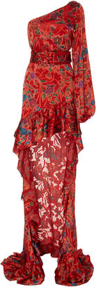 Alexis Marseille Cold-Shoulder High-Low Maxi Dress Size: S