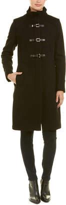 Cole Haan Officer Wool-Blend Coat
