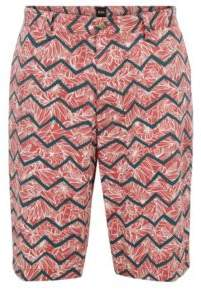 BOSS Hugo Chino shorts in digital-print stretch cotton 32R Open Red