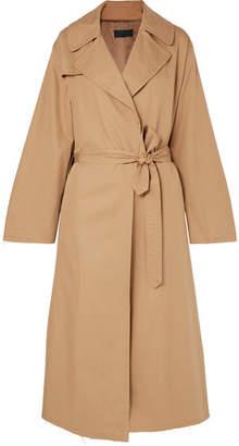 Nili Lotan Topher Distressed Cotton-gabardine Trench Coat