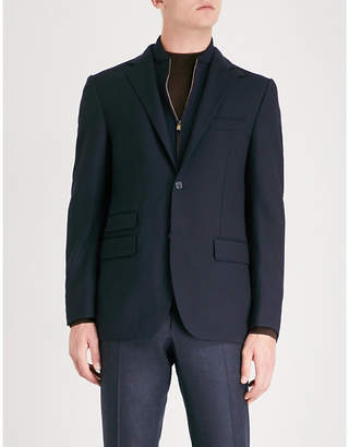 Corneliani ID detachable panel regular-fit stretch-wool jacket