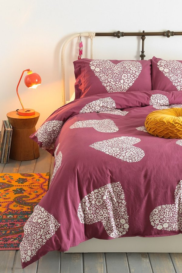 Urban Outfitters Plum & Bow Sweetheart Duvet Cover