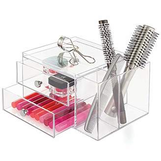 InterDesign Clarity Cosmetic Organizer for Vanity Cabinet – Perfect Storage Box for Makeup