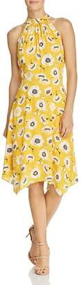 Adrianna Papell Mock-Neck Floral Dress