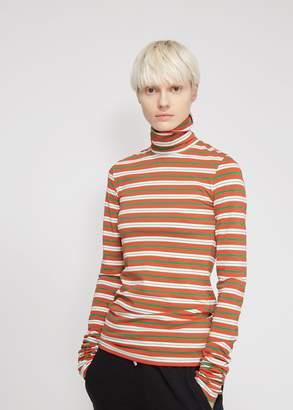 Marni Long Sleeve Striped Turtleneck