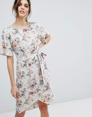 Closet London Floral Dress with Sleeve and Wrap Skirt