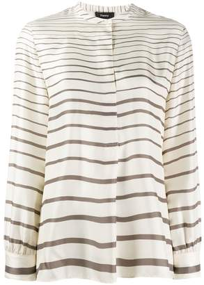 Theory striped long-sleeve top