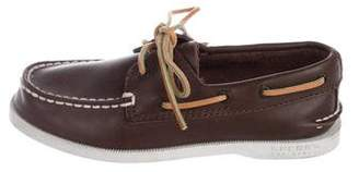 Sperry Boys' Leather Round-Toe Loafers