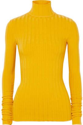 Simon Miller Rico Ribbed-knit Turtleneck Sweater - Mustard