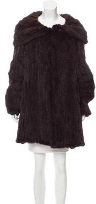 Belle Fare Knitted Mink Fur Coat