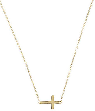 Lord & Taylor 18Kt Gold Over Sterling Silver Sideways Cross Necklace $60 thestylecure.com