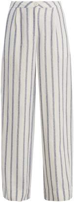 Thierry Colson Biarritz spugna wide-leg striped trousers