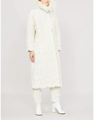 Issey Miyake Egale felted pleated coat