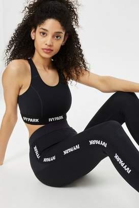 Ivy Park Logo detailed elastic racer back bra