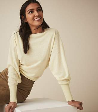 Reiss ABELLA WOOL CASHMERE BLEND JUMPER Lemon
