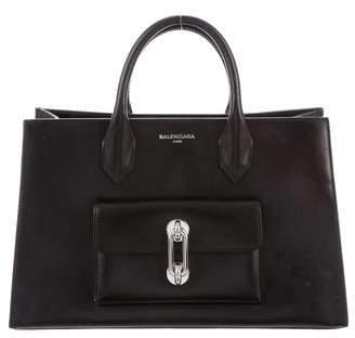 Balenciaga 2018 Maillon Work Small Leather Tote