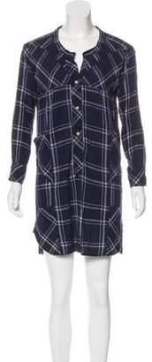 Isabel Marant Silk Plaid Shirtdress
