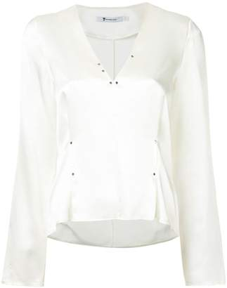 Alexander Wang rivet embellished blouse