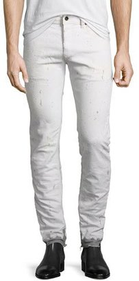 Diesel Painted Dip-Dye Slim-Straight Jeans, White $298 thestylecure.com