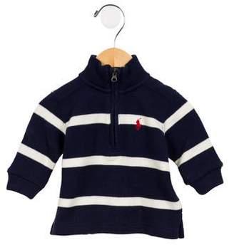 Ralph Lauren Boys' Mock Neck Half-Zip Sweater