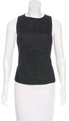 Gareth Pugh Coated Sleeveless Top