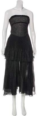 Antonio Berardi Strapless Metallic Dress w/ Tags