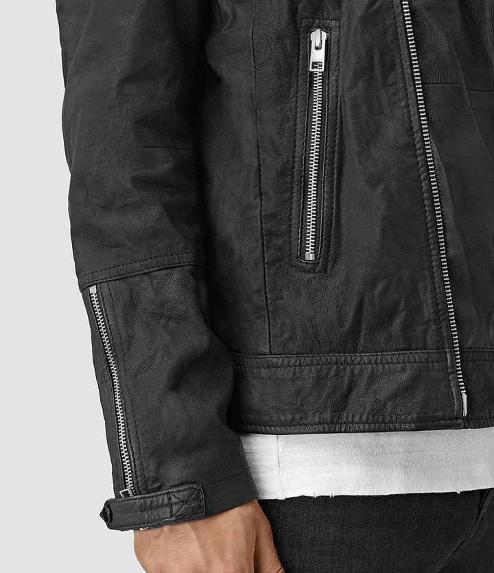 AllSaints Kushiro Leather Biker Jacket