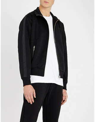 The Kooples Funnel-neck grosgrain-trim jersey jacket