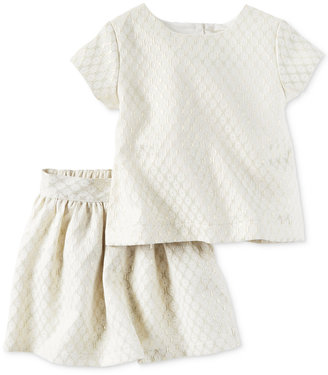 Carter's 2-Pc. Jacquard Top & Skirt Set, Little Girls (2-6X) $44 thestylecure.com