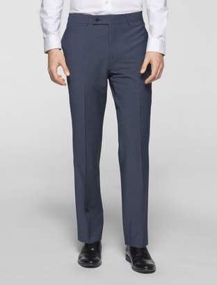 Calvin Klein body slim fit blue chambray suit pants