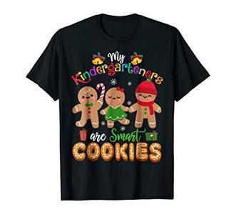 Kindergarten Teacher Christmas Shirt Cute Smart Cookies T-sh