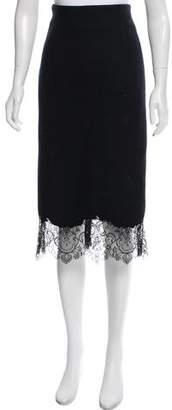 Ermanno Scervino Wool Pencil Skirt