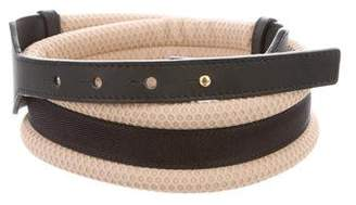 Marni Leather-Trimmed Waist Belt