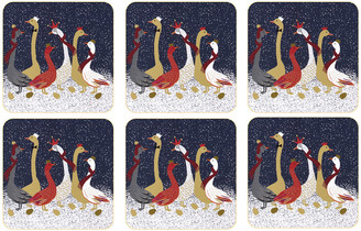 Sara Miller - Christmas Geese Coasters - Set of 6