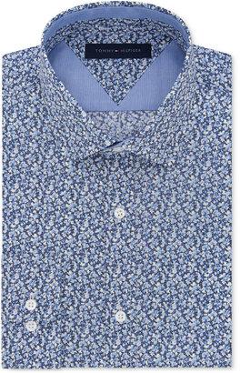 Tommy Hilfiger Men's Slim-Fit Sky Blue Floral Liberty-Print Dress Shirt $125 thestylecure.com
