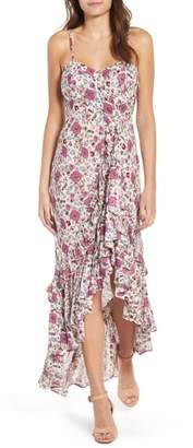 Raga Summer Bloom Ruffle Hem High/Low Dress