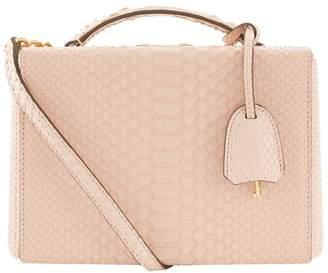 Mark Cross Small Python Grace Box Bag