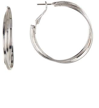 Ettika Crossed Wire Wrap Hoop Earrings