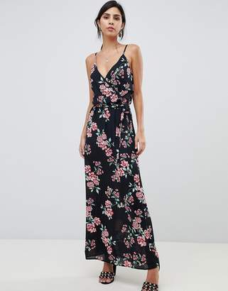 Oh My Love Wrap Front Printed Maxi Dress