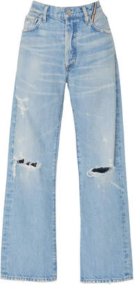 Atelier Jean Laurent Distressed High-Rise Flared Jeans