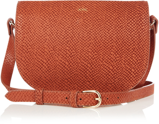 A.P.C. Andrea python-embossed cross-body bag $327 thestylecure.com