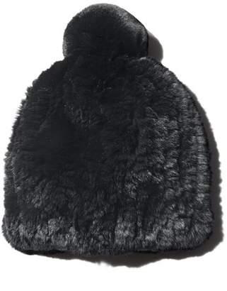 Maximilian Furs Knit Rex Rabbit Fur Hat - 100% Exclusive