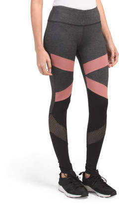 Color Block & Mesh Leggings