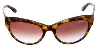 Tom Ford Round Gradient Sunglasses