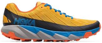 Hoka One One mustard yellow Torrent Trail low-top running sneakers
